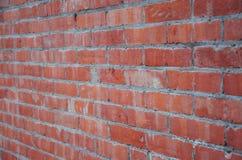 Priorità bassa rossa del muro di mattoni Fotografia Stock Libera da Diritti