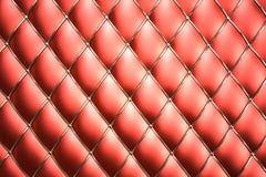 Priorità bassa rossa del reticolo del cuoio genuino Fotografia Stock Libera da Diritti