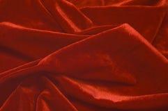 Priorità bassa rossa del velluto Fotografia Stock Libera da Diritti