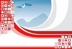 Priorità bassa rossa dell'aletta di filatoio illustrazione di stock