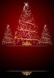 Priorità bassa rossa della cartolina di Natale Fotografia Stock Libera da Diritti