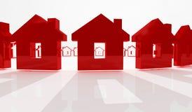 Priorità bassa rossa della casa royalty illustrazione gratis