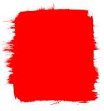 Priorità bassa rossa della spazzola Fotografie Stock Libere da Diritti