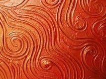 Priorità bassa rossa della tela di canapa Immagini Stock Libere da Diritti