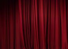 Priorità bassa rossa della tenda del teatro Immagine Stock Libera da Diritti