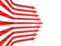 Priorità bassa rossa delle frecce di affari astratti Immagini Stock Libere da Diritti