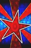 Priorità bassa rossa di burst della stella Immagini Stock Libere da Diritti