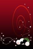 Priorità bassa rossa di gradiente di giorno dei biglietti di S. Valentino con la bolla Fotografia Stock