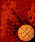 Priorità bassa rossa di pallacanestro Immagini Stock Libere da Diritti