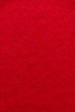 Priorità bassa rossa di struttura del tessuto Fotografia Stock Libera da Diritti