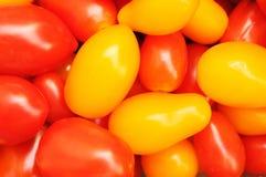 Priorità bassa rossa e gialla del pomodoro Fotografie Stock Libere da Diritti