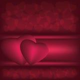 Priorità bassa rosso scuro di amore Immagine Stock