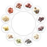 Priorità bassa sana dell'alimento Fotografie Stock Libere da Diritti