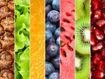 Priorità bassa sana della frutta fresca Fotografie Stock