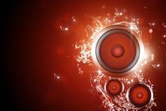 Priorità bassa sana di musica dell'altoparlante Immagine Stock