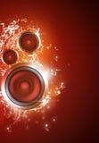 Priorità bassa sana di musica dell'altoparlante Fotografia Stock Libera da Diritti