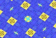 Priorità bassa scura astratta Modello unico blu dalle forme geometriche Immagini Stock