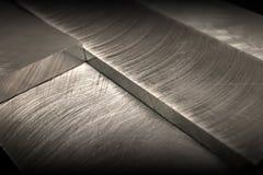 Priorità bassa scurita del metallo Fotografie Stock Libere da Diritti