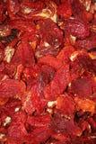 Priorità bassa secca dei pepe rossi Fotografia Stock