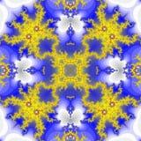 Priorità bassa senza giunte astratta del reticolo Fiore giallo Immagini Stock Libere da Diritti