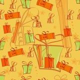 Priorità bassa senza giunte con i contenitori di regalo illustrazione vettoriale