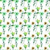 Priorità bassa senza giunte con i fiori decorativi Fotografia Stock