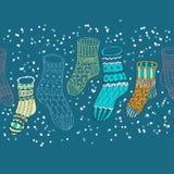 Priorità bassa senza giunte con le calze di inverno Fotografia Stock Libera da Diritti