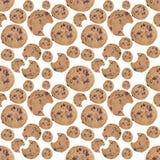 Priorità bassa senza giunte del biscotto di pepita di cioccolato Fotografia Stock Libera da Diritti
