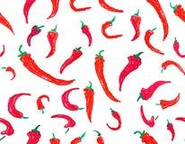 Priorità bassa senza giunte del pepe di peperoncino rosso Fotografia Stock Libera da Diritti