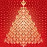 Priorità bassa senza giunte dell'albero di Natale di vettore Fotografia Stock Libera da Diritti