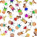 Priorità bassa senza giunte di vettore con i bambini Immagine Stock Libera da Diritti