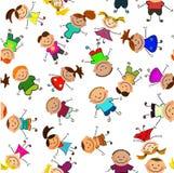 Priorità bassa senza giunte di vettore con i bambini Fotografia Stock Libera da Diritti