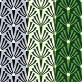 Priorità bassa senza giunte floreale del reticolo Fiori stilizzati dell'ornamento sopra Fotografie Stock