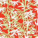 Priorità bassa senza giunte floreale Modello di bambù della foglia Pianti la struttura Fotografia Stock Libera da Diritti