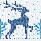 Priorità bassa senza giunte lavorata a maglia con un cervo illustrazione di stock