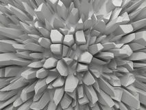 Priorità bassa sfaccettata bianca astratta della struttura illustrazione vettoriale