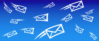 Priorità bassa SMS del email Immagini Stock
