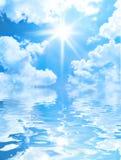 Priorità bassa solare del cielo Fotografia Stock Libera da Diritti