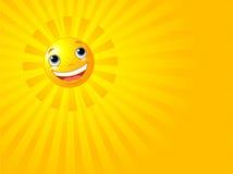 Priorità bassa sorridente felice di estate di Sun Immagine Stock