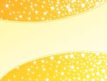 Priorità bassa sparkly gialla luminosa, orizzontale Fotografie Stock Libere da Diritti
