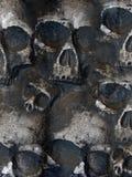 Priorità bassa spaventosa del cranio Fotografie Stock
