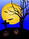 Priorità bassa spaventosa di Halloween Fotografia Stock