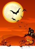 Priorità bassa spettrale di Halloween Fotografia Stock Libera da Diritti