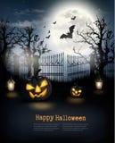 Priorità bassa spettrale di Halloween Fotografie Stock Libere da Diritti