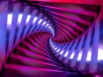 Priorità bassa a spirale viola di turbinio illustrazione di stock
