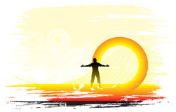 Priorità bassa stabilita di Sun Fotografia Stock Libera da Diritti