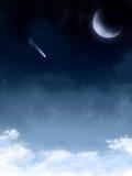 Priorità bassa stellata di notte Fotografie Stock Libere da Diritti