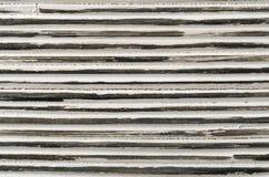 Priorità bassa a strisce in bianco e nero del rattan fotografia stock