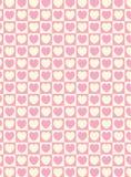 Priorità bassa a strisce del tessuto dei quadrati del cuore del campione di vettore Immagine Stock