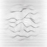 Priorità bassa a strisce di vettore Linea astratta onde Oscillazione dell'onda sonora Linee arricciate funky Struttura ondulata e illustrazione di stock